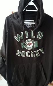 MN Wild old time hockey hoodie mens size XL